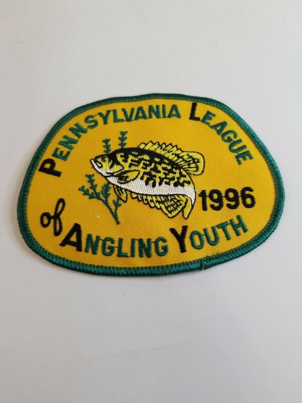 1996 Pennsylvania League of Angling Youth Fishing Patch...Free Shipping!