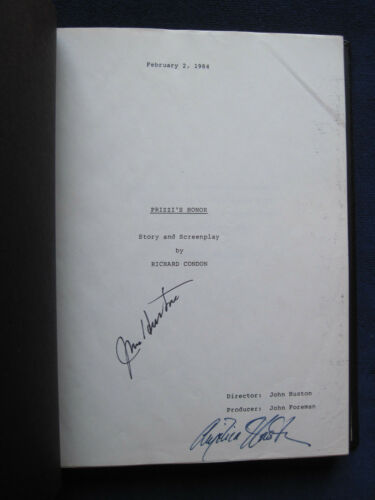 ORIGINAL SCRIPT for PRIZZI