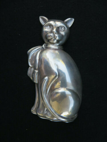 Vintage Tiffany & Co  Sterling Silver Cat-Form Trinket Box RARE