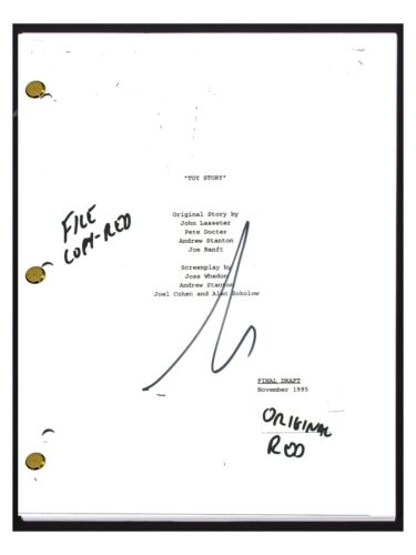 Tim Allen Signed Autographed TOY STORY Full Movie Script Screenplay COA