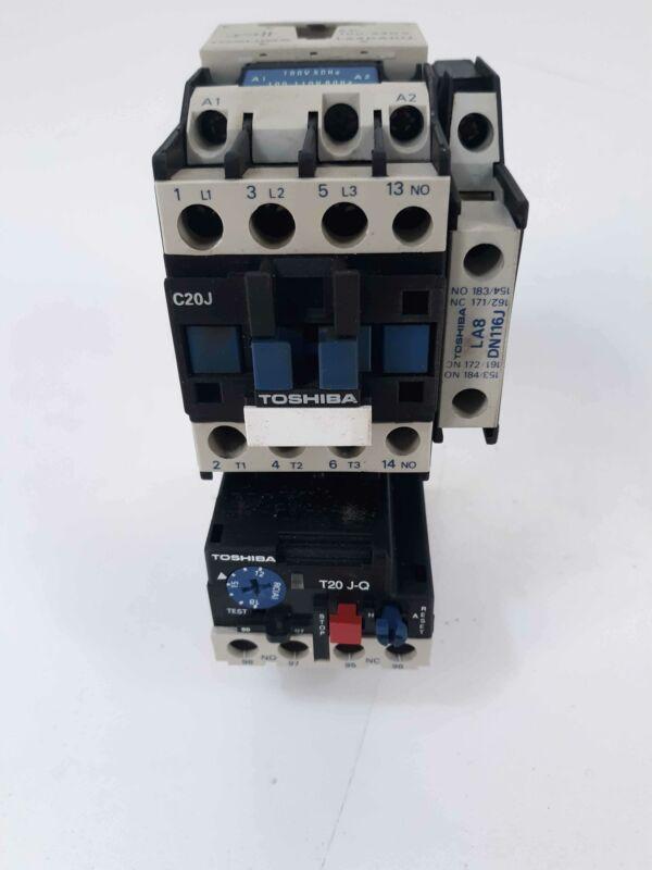 Toshiba C20J Contactor 110v Coil w/ T20 J-Q Overload Relay 12-18A LA4DA1UJ