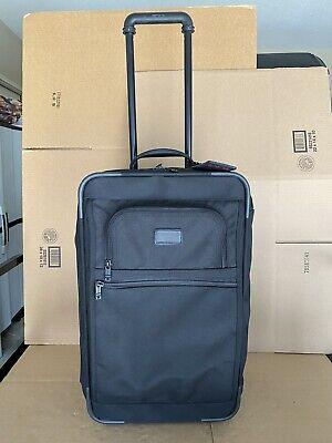 "TUMI International 22"" Upright Carry On Luggage. Style 2279D3 Black 2 Wheeled Upright 22 Expandable Carry On"