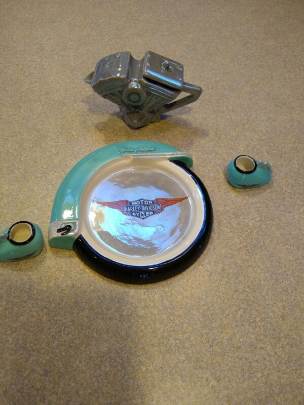 1998 Harley Davidson Miniatures Tea Set