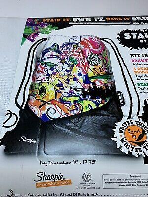 Sharpie Marker Pullstring Backpack Set
