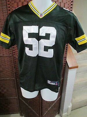 Green Bay Packers Clay Matthews Jersey Youth Large 14-16 Reebok Sewn Football  for sale  North York