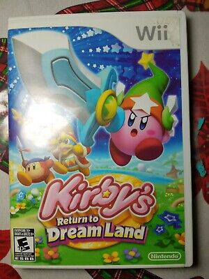 Kirby's Return To Dreamland Wii Game and case(USED) COMPLETE