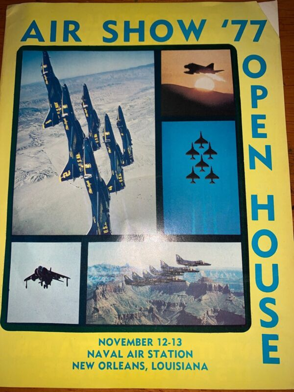 1977 New Orleans Air Show Blue Angels Program Aviation