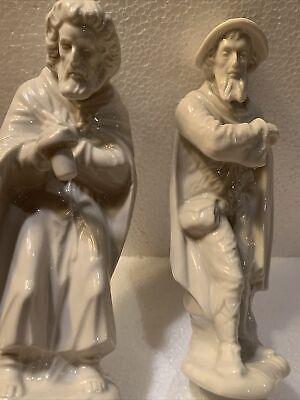 2 PIECE Dresden Sandizell Crown D Germany Porcelain Nativity Set Wise Men