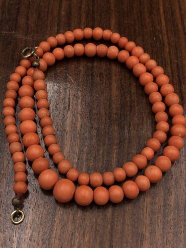 Damen Halskette , Koralle Kette, Antik Schmuck