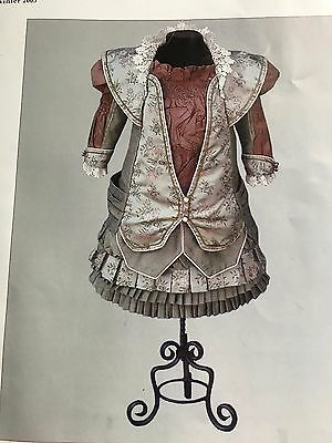 "Antique  French 20""  Bebe  Bru Jne 14 Costume Pattern 17 p. New"
