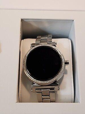32923294317a Michael Kors SOFIE MKT 5036 Access Smart Watch SILVER BEAUTIFUL!