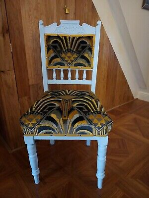 Antique fully restored Upholstered Hall Chair / Bedroom Chair