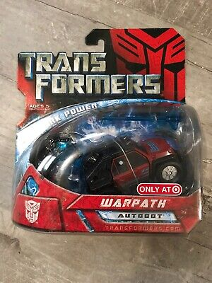 TRANSFORMERS MOVIE ALLSPARK POWER WARPATH SCOUT CLASS TARGET EXCLUSIVE NEW!