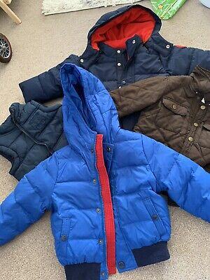Boys Tolder 2-3 Years Bundle Jackets Coats Puffa Blue Navy Red Timberland Gap Hm