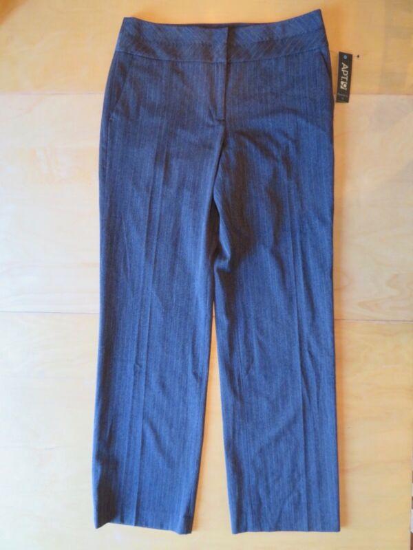 3f97612b0e07e New Women s Apt 9 Maxwell Modern Fit Navy Blue Dress Pants Straight Leg  Size 10