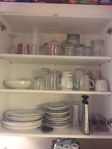 Plates bowls knives forks spoons cups