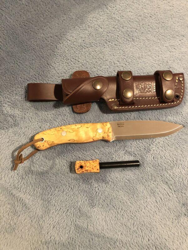 Mark 2 TBS Boar Bushcraft/ Survival Knife with Curly Birch Handle.