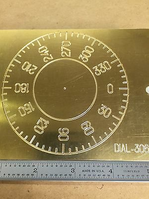 Brass Engraving Plate For New Hermes Font Tray Instrument Dial Degrees Clock