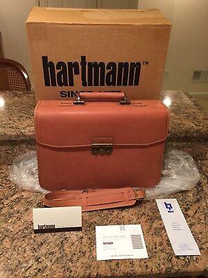Hartmann Belting Leather Flapover Messenger Double Gusset XL Briefcase Attache