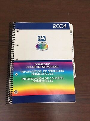2004 PPG Domestic Color information paint chip book  GM Chrysler Ford