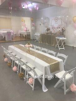 Gold Glimmer Princess Party - Brisbane Hire