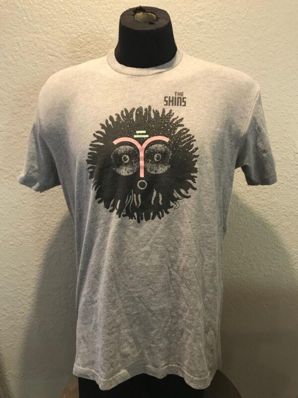 The Shins Face T-shirt Official Shins Merch Grey Men