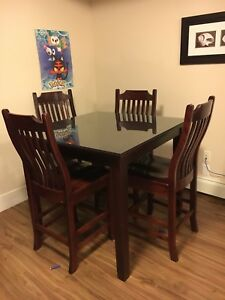 Real Wheaton maple wood high breakfast table