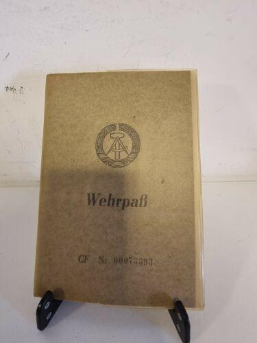 DDR GDR East Germany ArmyWehrpass NVA National Volksarmee Service Card