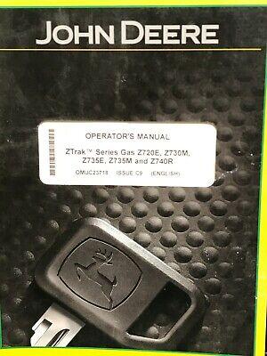 John Deere Ztrak Series Gas Z720e Z730m Z735e Z735m Z740r Operators Manual