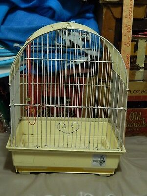 Canary Yellow METAL Frame PLASTIC Base/Tray (BIRD CAGE) Blue Ribbon TOP WING Ltd