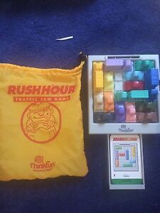 Rushhour game with cards and bag