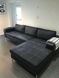Near New Black Sofa Balmain Leichhardt Area Preview