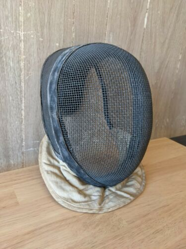 Antique CASTELLO Fencing Equipment Co. NY Mask Helmet Wire Mesh Leather