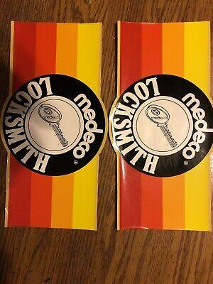 Vintage Medeco Locksmith Stickers- Set Of 2