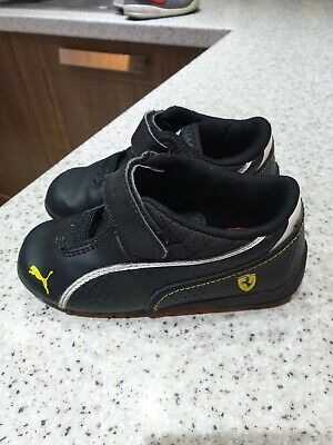 Infant Puma Black Ferrari Trainer UK Infant Size 7 child boy trainers shoes