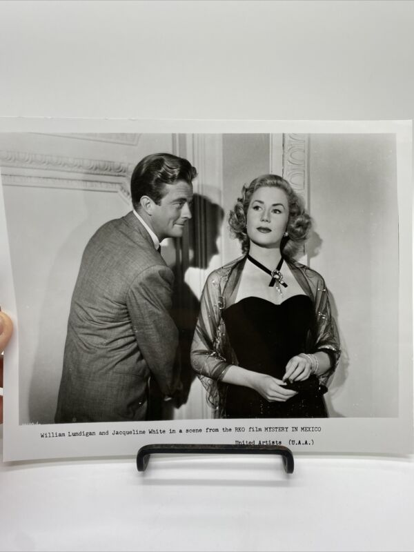 1948 Mystery In Mexico Movie Promo Photograph William Lundigan, Jacqueline White