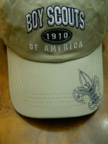 BOY SCOUTS OF AMERICA 1910 CAP, KHAKI  (NEW WITH TAGS)