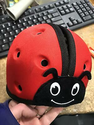 SafeheadBABY Soft Helmet for Babies Learning to Walk - Ladybird Red