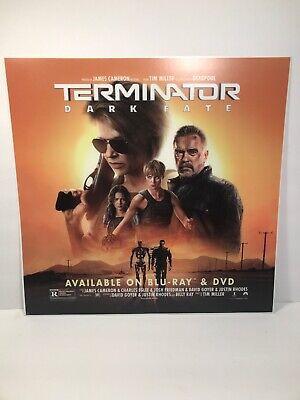 "Terminator Dark Fate Movie Poster Double Sided 14 1/4"" X 14 1/2"" Sci-fi"