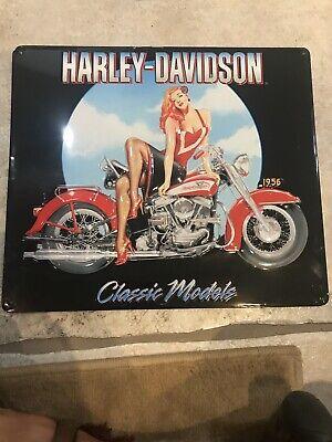 Genuine Harley Davidson Metal Garage Sign Classic Model Ande Rooney Collection