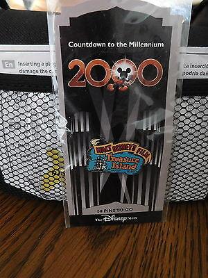 SEALED Disney Store Countdown Millennium Treasure Island #51 Pin