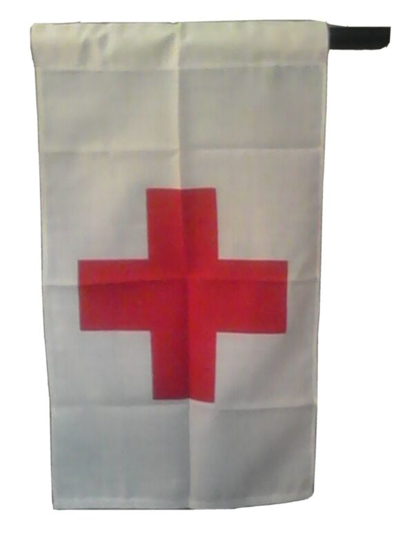 Red Cross Flag, Vietnam era vintage, Unused condition