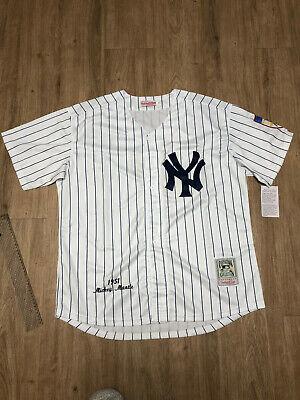 Yankees #7 Mickey Mantle Jersey White Striped Retro Uniform Men