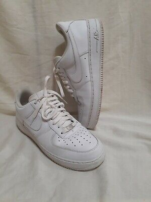 Mens White Nike Air Force Ones Size 12. Low Top.