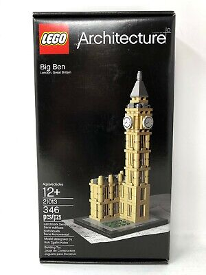 LEGO Architecture Big Ben 21013 New, Sealed, SEE DESCRIP, FREE Priority Shipping