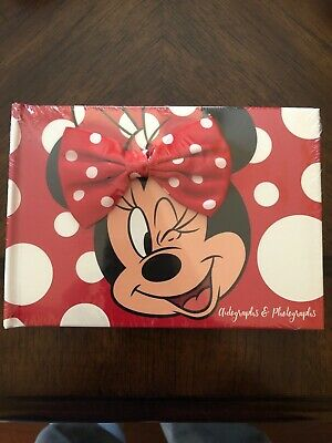 Disney MINNIE MOUSE Autograph Book & Photo Album New & Sealed