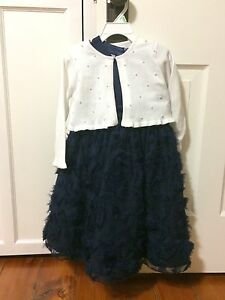 Navy fancy dress and sweater