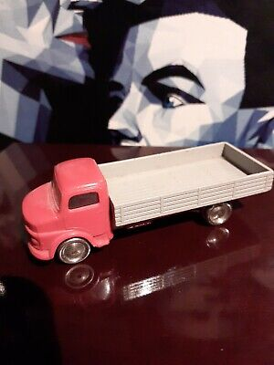 Vintage Lego H.O Scale 1960'S Red Mercedes flatbed Truck. Original & Rare!