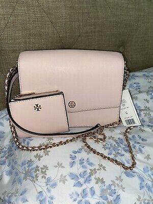 Tory Burch Robinson Convertible Bag- Blush Pink W/Wallet NWT