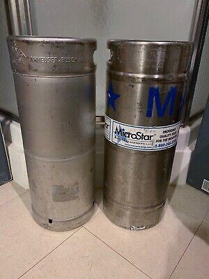 Two 16 Barrels Used Empty Beer Kegs - Stainless Steel - 5.16 Gallon Each